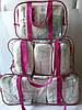 Набор из 3 прозрачных сумок в роддом - S,M,L - Синие, фото 10
