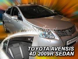 Дефлектори вікон (вітровики) Toyota Avensis 2009 -> Sedan 4шт (Heko)