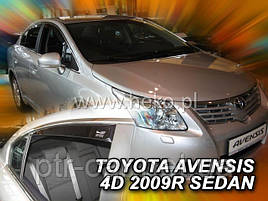 Дефлекторы окон (ветровики)  Toyota Avensis 2009 -> Sedan 4шт (Heko)