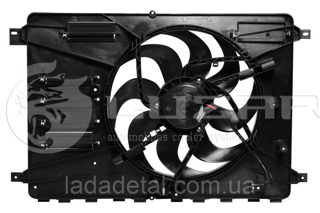 Э/вентилятор охл. с кожухом Mondeo (07-)/Freelander 2 (06-) МКПП/АКПП (LFK 1041) Luzar