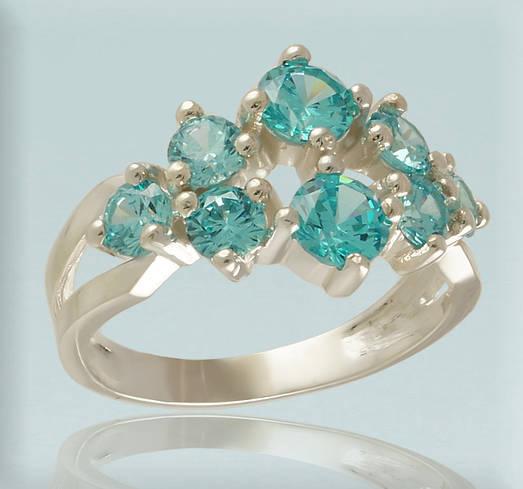 05ea837e1da1 Серебряное кольцо 925 пробы с фианитами