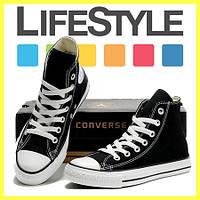 Кеды Converse ALL STAR высокие! Тренд 2018!  Кеды, Резина, Унисекс, Черный (35-37, 40, 44 р.)
