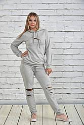 Серый спортивный костюм 0336-1