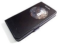 Чехол книжка с окошками momax для Asus Zenfone 3 ZE552KL черный
