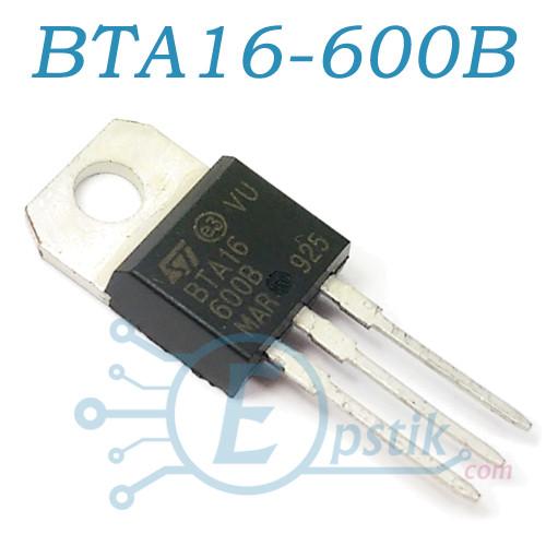 BTA16-600B, симистор 600В, 16А, TO220