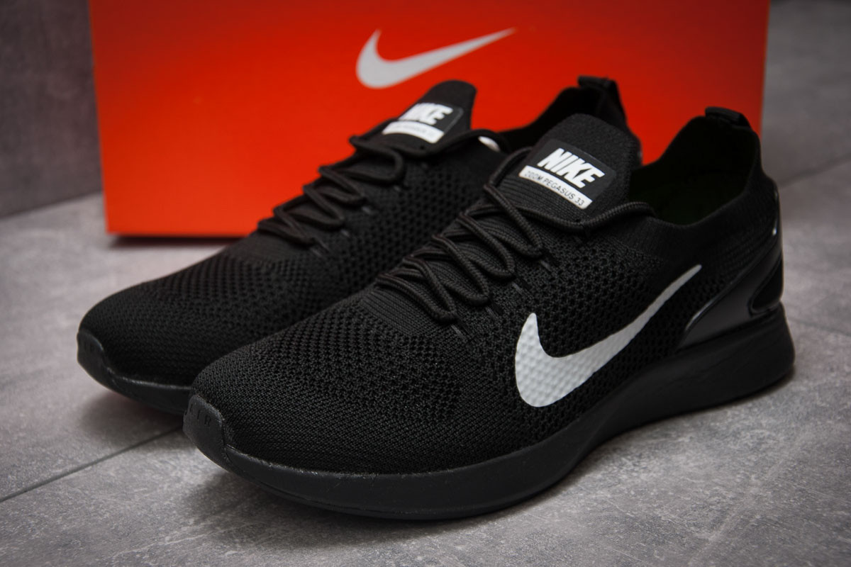 Кроссовки мужские в стиле Nike Zoom Pegasus 33, черные (12881),  [  45