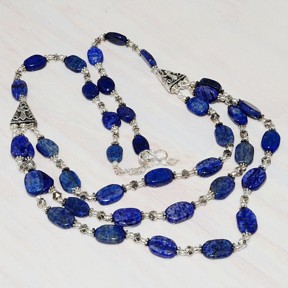 Оригинальное ожерелье с камнем ляпис-лазурит. Индия!