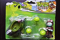 Растения против зомби   Plants vs Zombies Игровой набор №9 Самолет зелёный (Растения стреляют шариками)