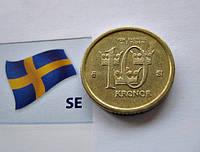 Монета 10 крон Швеции 2007 года