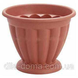 Горшок ребристый для цветов на подставке, диаметр 26 см, 2914