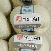 Турецкая  зимняя пряжа для вязания YarnArt Silky Wool (силки вул) шерсть с шелком 330