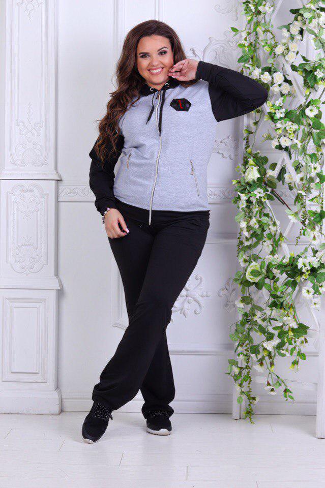 ed2d77d7b951 Спортивный костюм женский больших размеров 50-58  продажа, цена в ...
