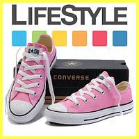 Кеды Converse ALL STAR низкие! Тренд 2018! Кеды, Резина, Унисекс, Розовый (35-36, 40-41 р.)