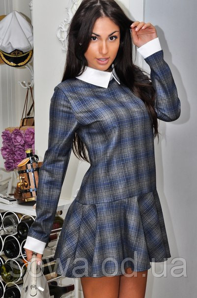 Стильное Женское Платье модель # 5046 серое фото