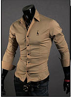 Бежевая рубашка. Размер 48