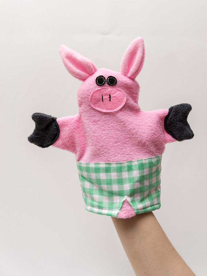 Кукла-перчатка Vikamade малая Хрюша.