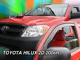 Дефлекторы окон (ветровики)  TOYOTA HILUX - VII 2d od 06-15(HEKO)