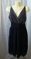 Платье черное вечернее с бисером Vero Moda р.50 7688