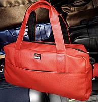 ca8a6fb853b0 Спортивная сумка Reebok 114638 багажная дорожная искусственная кожа  плечевой ремень 50см х 30см х 25см Красный