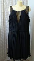 Платье черное вечернее батальное Mascara р.60 7690, фото 1