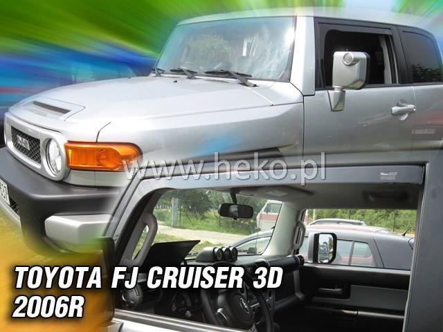 Дефлекторы окон (ветровики)  TOYOTA FJ CRUISER - 3D 2006R. →(HEKO)
