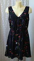 Платье летнее черное в цветах Vero Moda р.48-50 7692, фото 1