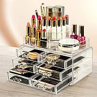 Органайзер для косметики Cosmetic Box 6 Drawer, Акриловый органайзер для косметики, Ячейки для косметики