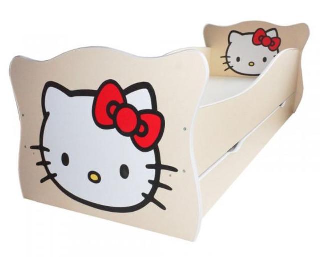 Кровать детская Enimal-1 с ящиком (Китти)