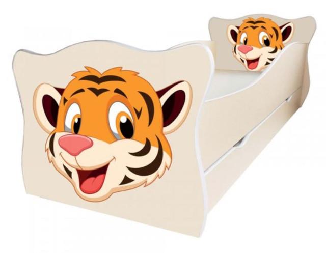 Кровать детская Enimal-4 с ящиком (Тигр оранж)