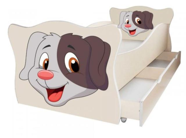 Кровать детская Enimal-5 с ящиком (Собачка)