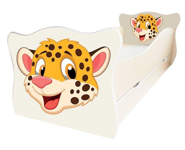 Кровать детская Enimal-7 с ящиком (Гепард)
