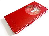 Чехол книжка с окошками momax для Asus Zenfone 3 ZE552KL красный