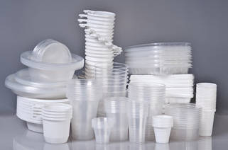 Одноразовая посуда из полипропилена