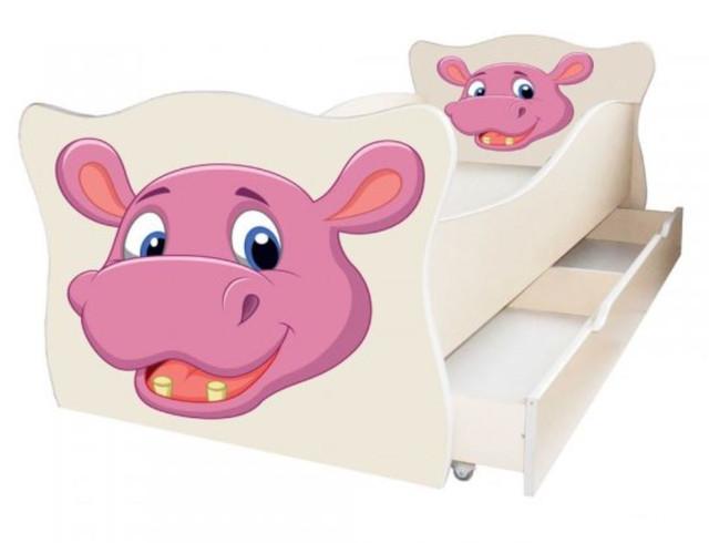 Кровать детская Enimal-8 с ящиком (Бегемотик)