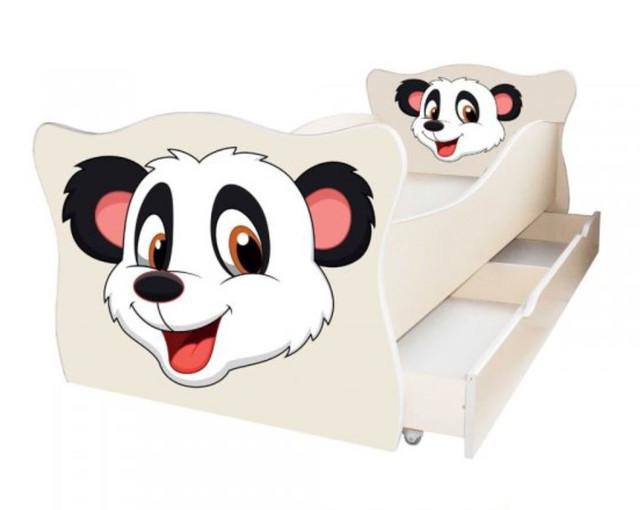 Кровать детская Enimal-9 с ящиком (Панда Белый)