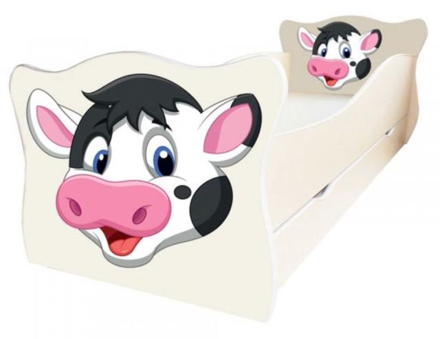 Кровать детская Enimal-10 с ящиком (Корова)