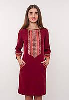 Красное платье с вышивкой (вышиванка), арт. 4188