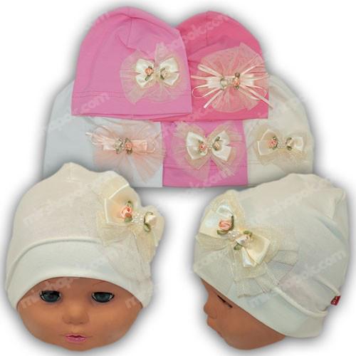 шапочка для новорожденной девочки