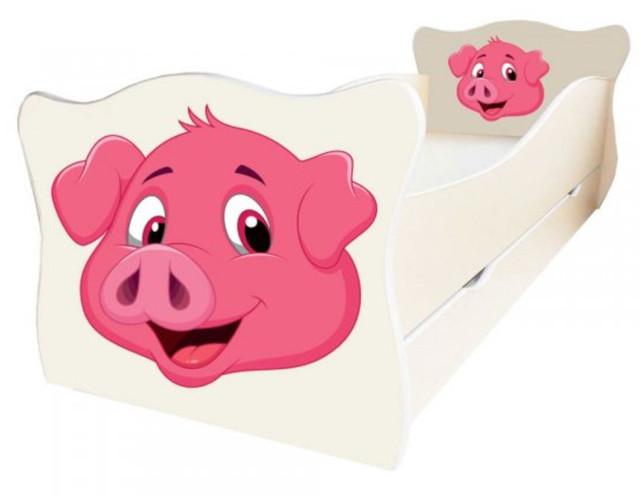 Кровать детская Enimal-11 с ящиком (Свин)