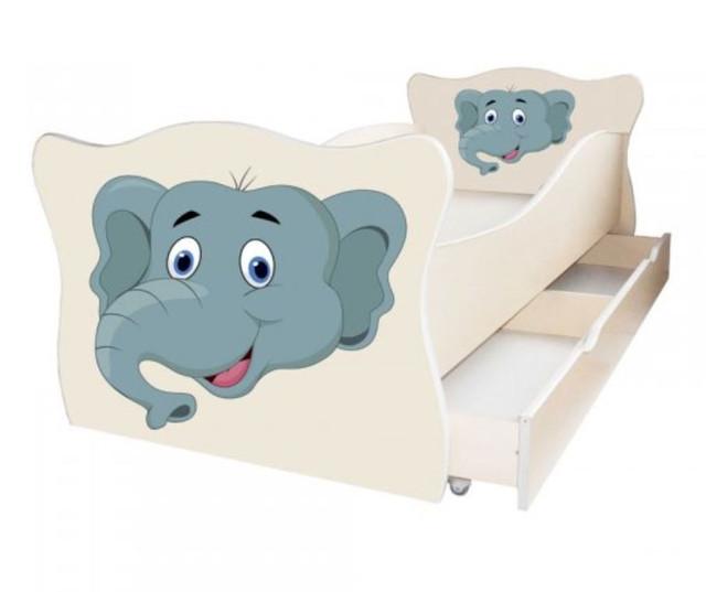 Кровать детская Enimal-13  с ящиком (Слон)