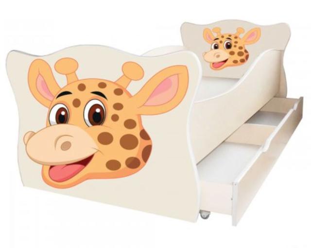 Кровать детская Enimal-14 с ящиком (Жираф)
