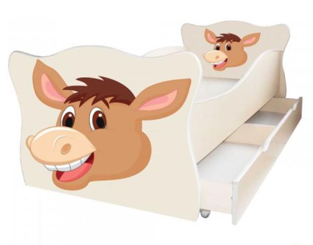 Кровать детская Enimal-15 с ящиком (Осёл)