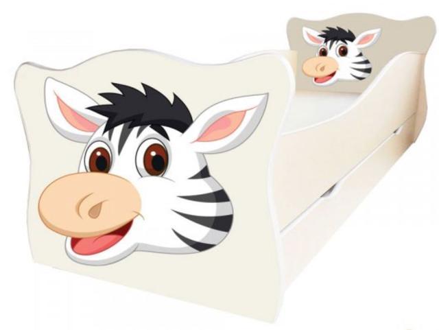 Кровать детская Enimal-16 с ящиком (Зебра)