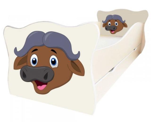 Кровать детская Enimal-17 с ящиком (Буйвол)