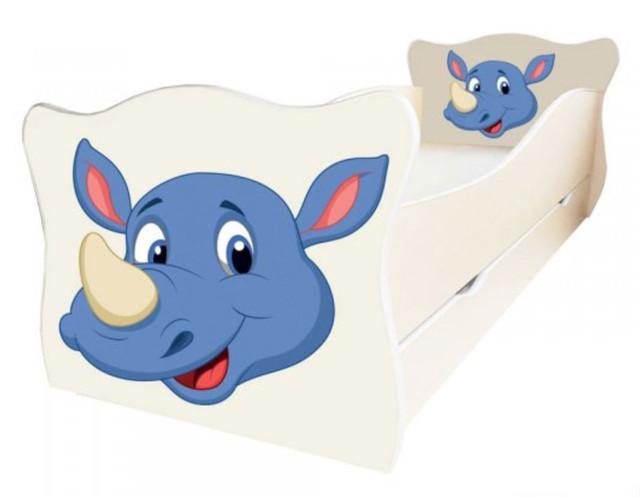 Кровать детская Enimal-6 с ящиком (Носорог)