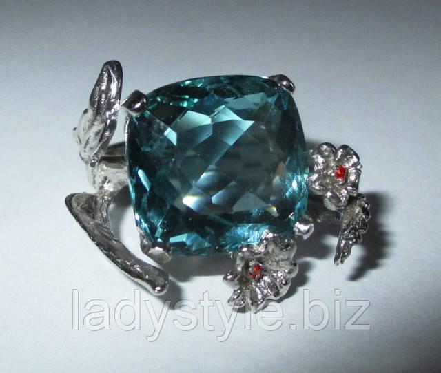 украшения кольцо перстень гранат цаворит сапфир аквамарин натуральный купить