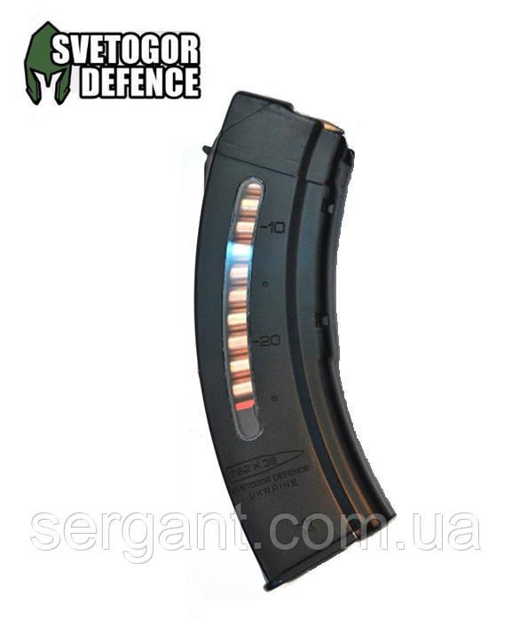 Магазин 7.62х39 на 30 патронов пластиковый с окном SDMAG-30 (Украина) для АК