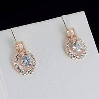Чудесные серьги с кристаллами Swarovski, покрытые слоями золота 0789