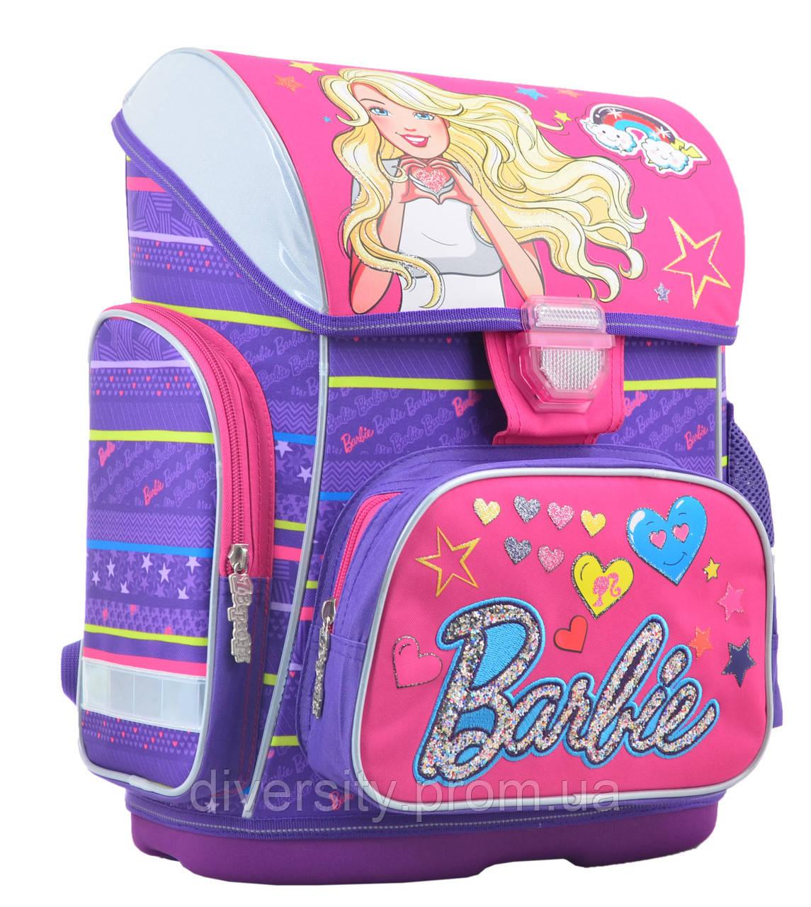 """Ортопедический каркасный ранец H-26  """"Barbie"""",  серия"""" Premmium""""554567"""