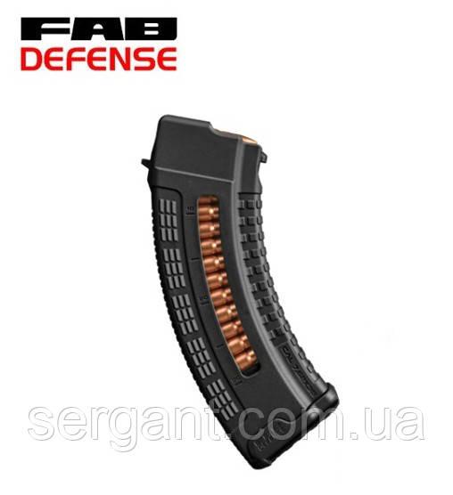 Магазин 7.62х39 на 30 патронов пластиковый с окном Fab Defense (Израиль) для АК